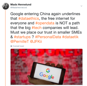 Google re-considering moving into China
